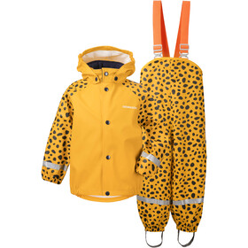 DIDRIKSONS Slaskeman 4 Rain Set Kids, citrus yellow dots